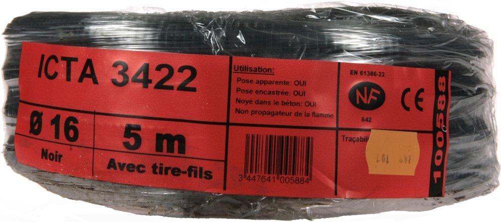 Janoplast JAN100588 Gaine ICTA avec tire fil 5 m Diam/ètre 16 mm