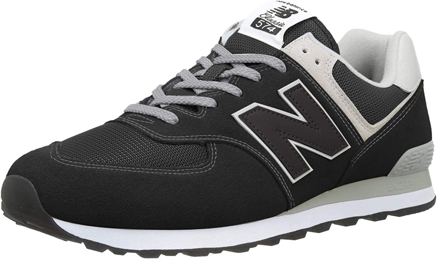 New Balance Men s 574 Core Sneaker, Black, 9 XW US