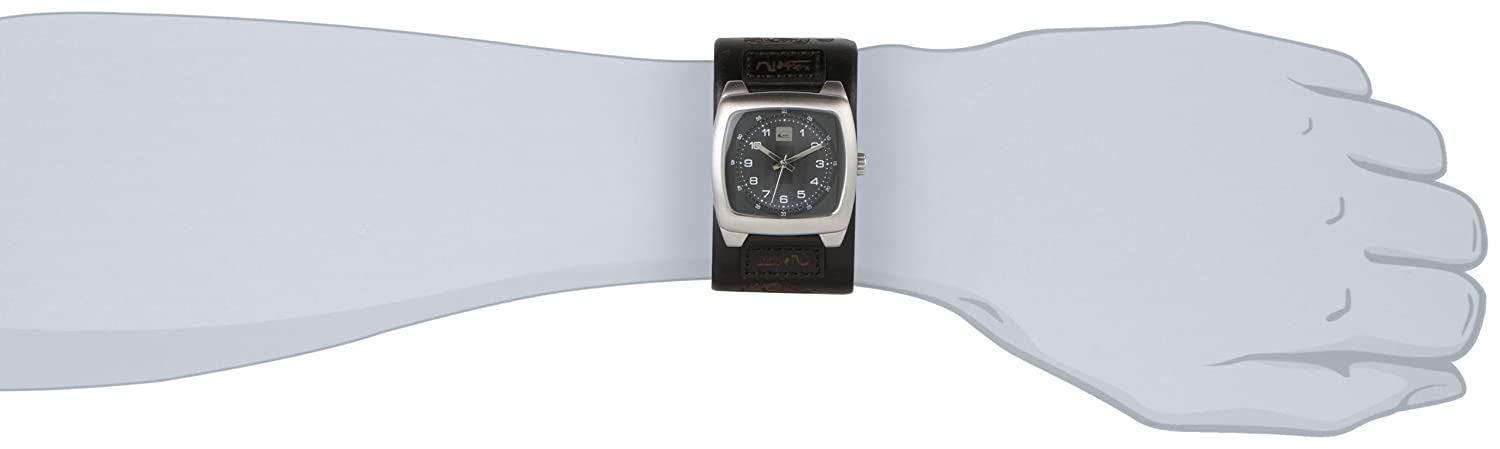 Quiksilver Men s Analogue Watch M076BL 2 ABLK With Leather Strap   Amazon.co.uk  Watches d9a8fb38349