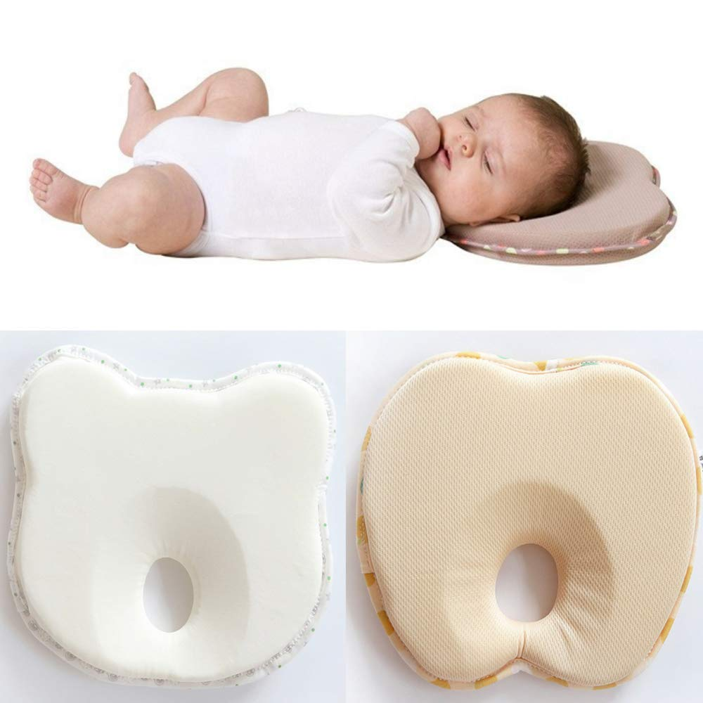 Flat Head Pillow for Newborn Ergonomical Head Rest for A Well Rounded Head