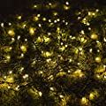 LTE 100 LED Solar Fairy Lights , 55ft , Warm White ,Outdoor Waterproof LED Solar String Lights, Christmas Lights, Ideal for Decorations, Party ,Gardens , Weddings ,Parties.