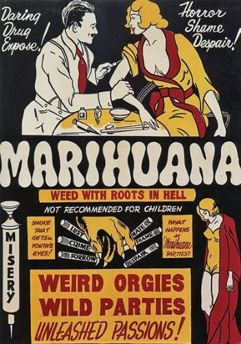 Vintage 1950/'s Anti Cocaine Ad Poster A3 reprint
