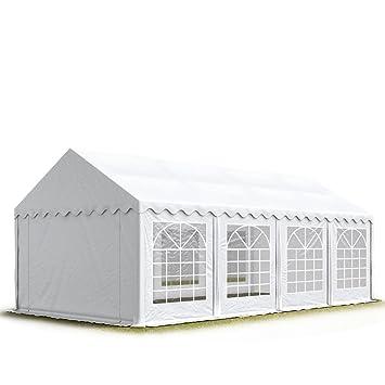 TOOLPORT 4x8 m Tente de réception/Barnum Blanc Toile de Haute qualité  500g/m² PVC Economy INTENT24