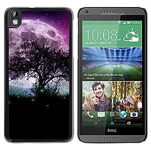 Stuss Case / Funda Carcasa protectora - Magical Moon And Green Fireflies - HTC DESIRE 816