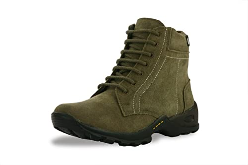 Bacca Bucci Men's Olive Genuine Leather Boots 10 Uk