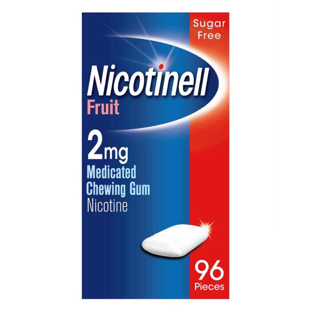Nicotinell Fruit 2mg Medicated Chewing Gum 96 Pieces