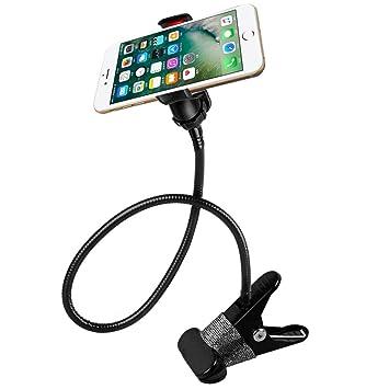 Soporte de Teléfono Móvil, AFUNTA Sostenedor Soporte universal de clip para Smartphones Soporte perezoso flexible