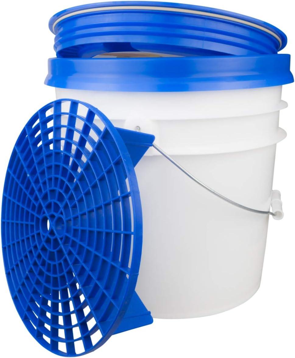 Dft Wascheimer System 3 5 Gallonen Mit Gamma Seal Cover Grit Guart Einsatz Blau Auto