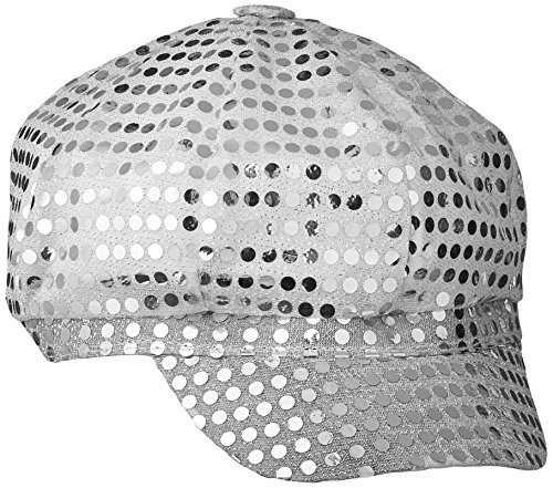 Smiffy's Women's Disco Sequin Hat, Silver, One Size, 25522