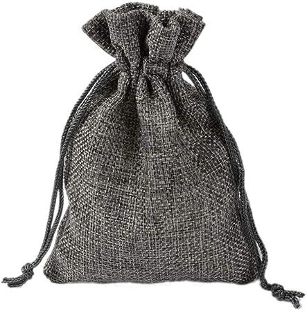 CZSM 50 Packs Sacs Vintage Toile de Jute avec Cordon de Serrage pour soir/ée de Mariage Favor Bijoux de No/ël Pouches Sacks,Beige,7x9cm