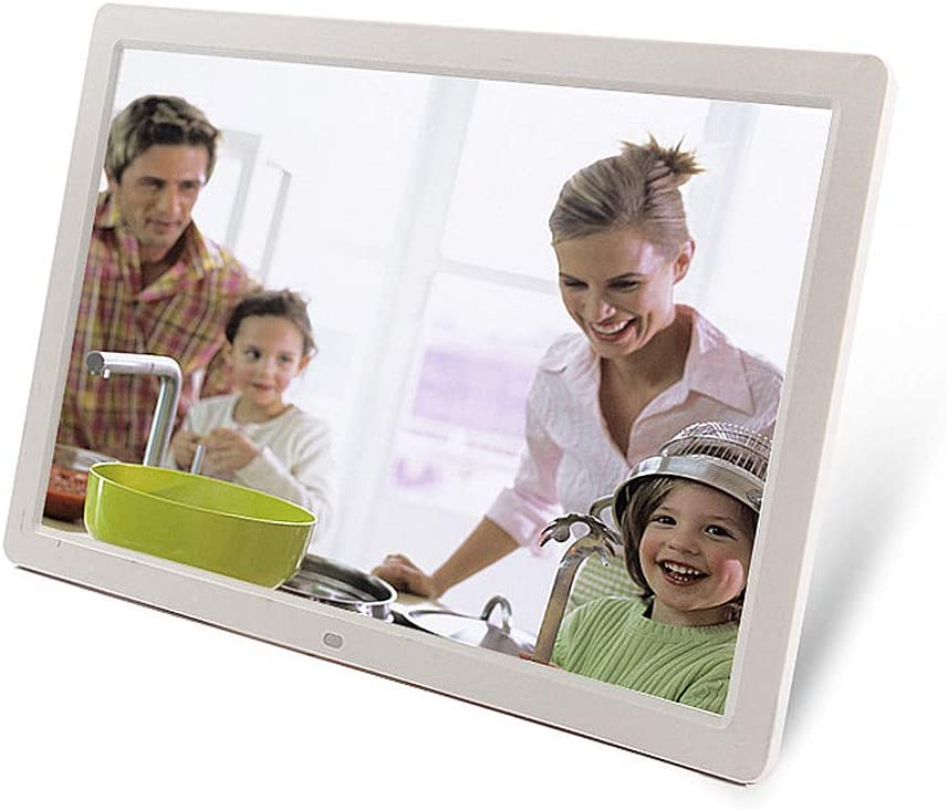 TONGTONG 10 inch Digital Photo Frame HD LED Picture Videos Frame Calendar//Clock//Ebook,White