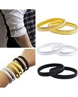 Coolrunner Anti-slip Metal Shirt Sleeve Holders Armband Arm for Band Stretch Garter Elastic 6pcs