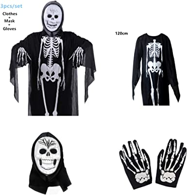 1Pair Scary Ghost Skull Skeleton Ghost Gloves Party Halloween Costume Fancy Gift