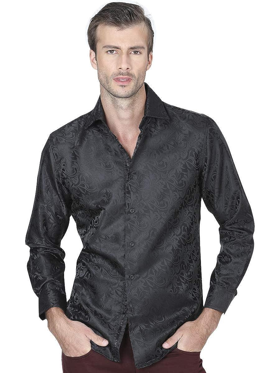 Camisa Casual M//Larga Centenario 100/% Polyester Negro ID 41453 CW1G
