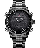 Naviforce Analog-Digital Black Dial Men's Watch-NF9024-BBW By LexXiv®