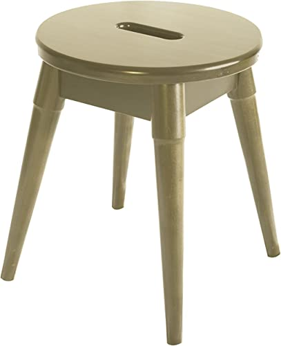 New Ridge Home Goods Arendal Solid Birch Wood Round Stool, Blonde