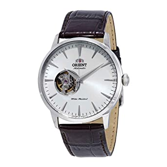 bae327bf372 Image Unavailable. Image not available for. Color  Orient Open Heart  Automatic White Dial Mens Watch FAG02005W0