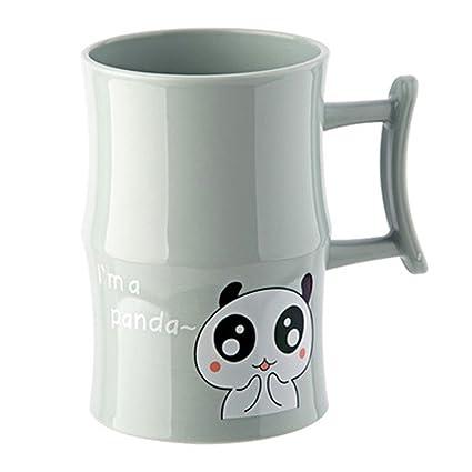 LBTSQ-Cepillo de Copa Cute Cartoon Lavar la Taza Taza de plástico Cepillo de Dientes