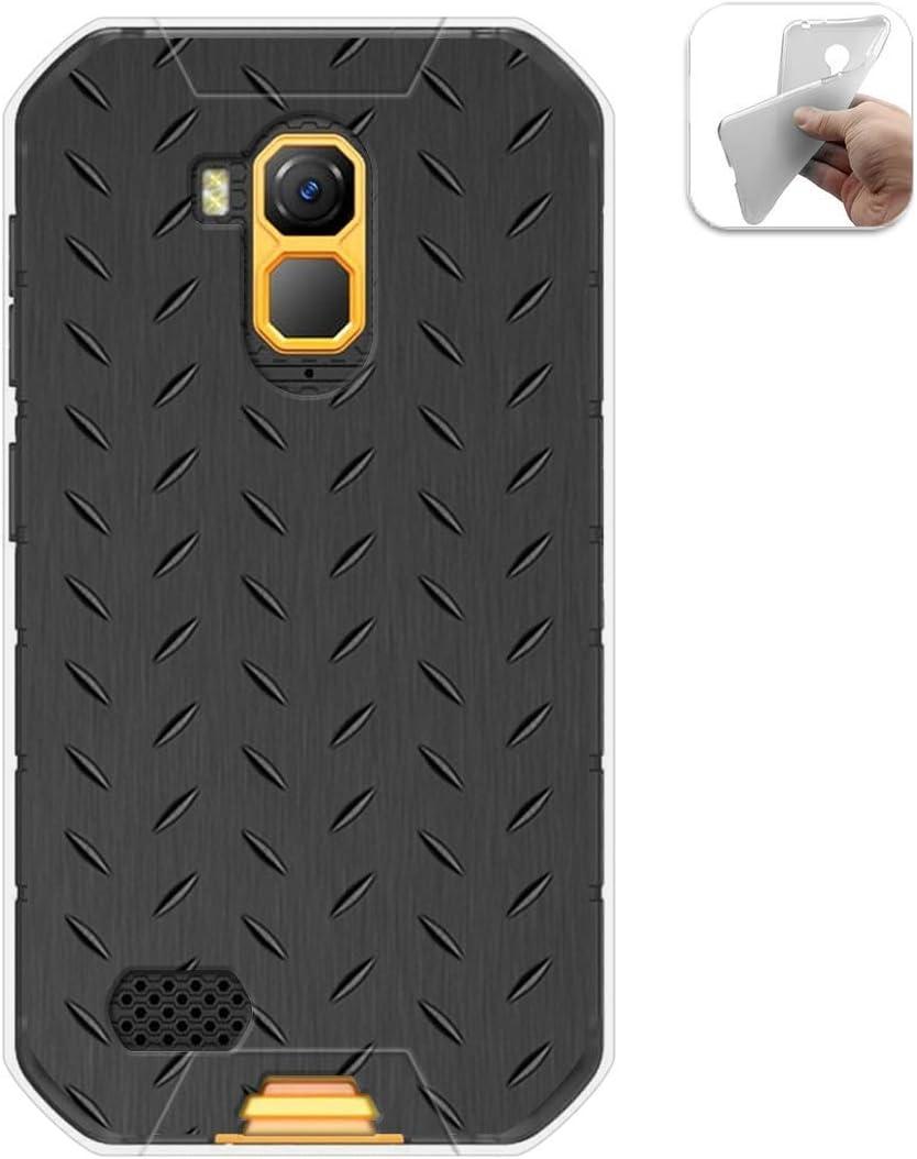Tumundosmartphone Funda Gel TPU para Ulefone Armor X7 / X7 Pro diseño Metal Dibujos