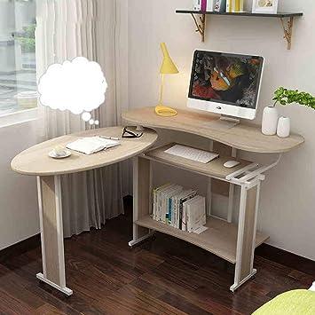 CWJ Mesa pequeña para el hogar Estación de Trabajo de 2 Piezas Plegable con estanterías Pc