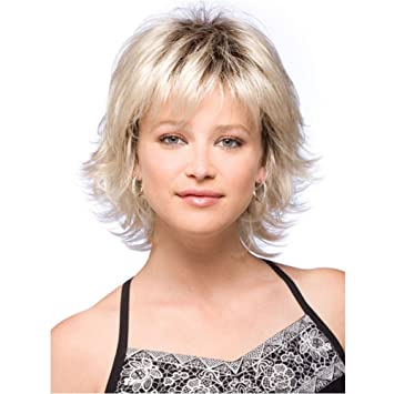 Amazon.com   Gracefulvara Women Lady Blonde Short Wavy Hair Wig Heat  Resistant   Beauty 5353424e3