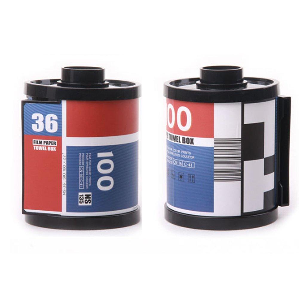 Bobina telecamera su carta fazzoletti Scatola dispenser titolare di tessuti tessuti Case toilettes Capsule titolari 1 pezzo blu Rocita