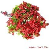Richi - Árbol de flores artificiales en miniatura para decoración de jardín, 7 cm