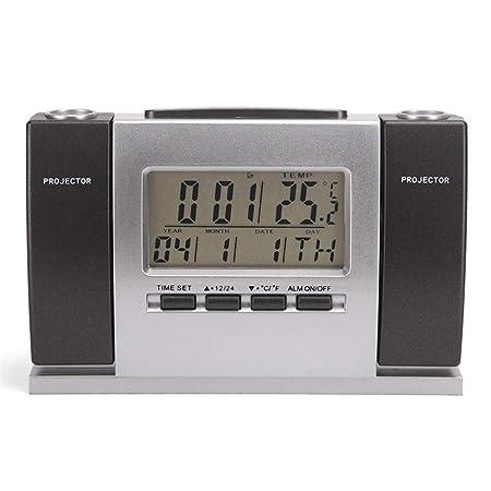 LHY FAN Reloj de proyector, Digital Despertador con Pantalla LED ...