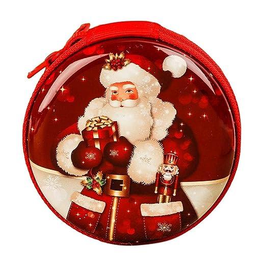 SUPERLOVE Monedero Redondo De La Navidad,Bolsa De Caramelo ...
