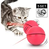 B Bascolor Cat Toys Interactive Electric Rotating Ball with Automatic Focused Light Laser Ball 15 Batteries for Pet Cats Kittens Puppy Dogs
