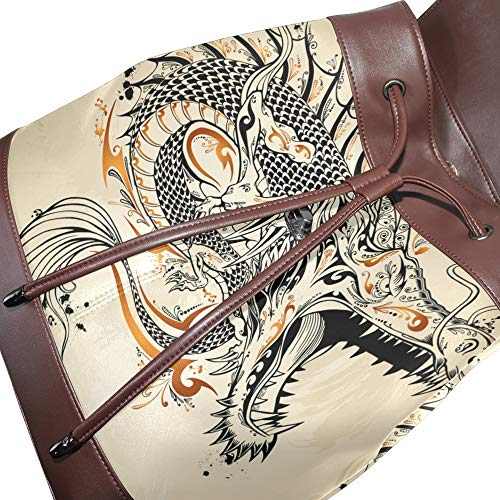 Única Para Mochila Talla Multicolor Mujer Dragonswordlinsu Bolso Piel De Zx8wpqwaIR