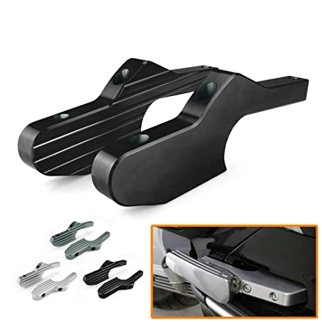 TOOGOO Scooter Foot Rests Passenger Foot Pegs Extensions Universal CNC Extended Footpegs for Vespa Gt Gts Gtv 60 125 200 250 300 300Ie Black