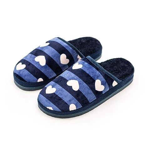 Pantofole di Cotone Slipper A Righe Fondo Spesso Autunno E Inverno Casa  Scarpe Calde E Morbide 74f10d6f05c