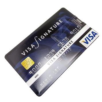 WEIHAN Tarjeta de crédito súper Delgada a Prueba de Agua USB Flash ...
