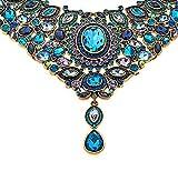 Heidi Daus SWAROVSKI Crystal Beaded 2-Strand Crystal Drop Necklace ~ Worth Waiting For- Blue Multi
