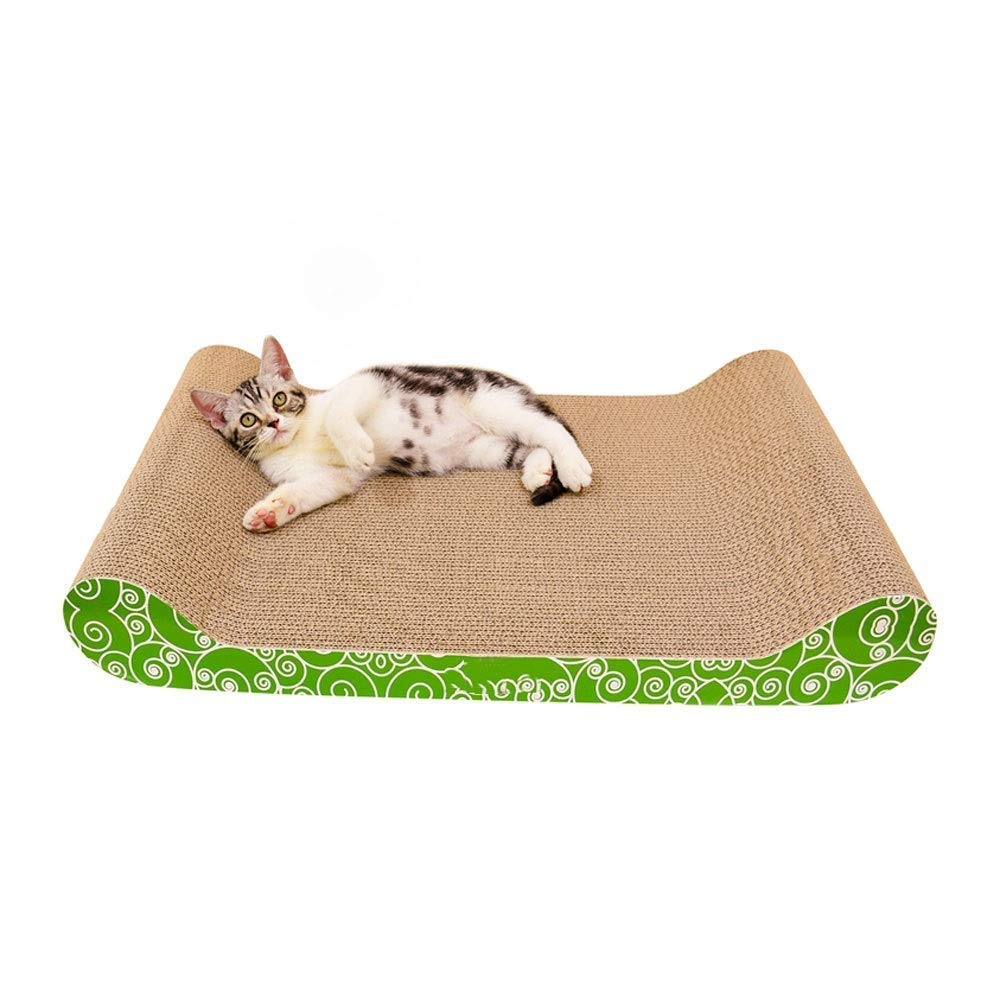 M Corrugated Scraper Small and Medium Cat Supplies Cat Grinding Claws Toy Sofa Safe Comfortable Cat Bed 2 Sizes Pet Supplies (Size   M)
