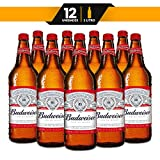 Cerveza Importada Budweiser, 12 Botellas 1lt c/u