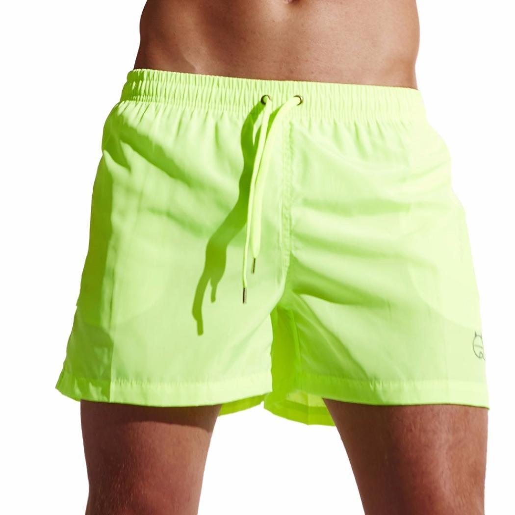 GREFER Men's Summer Shorts Swim Trunks Quick Dry Beach Surfing Running Pants