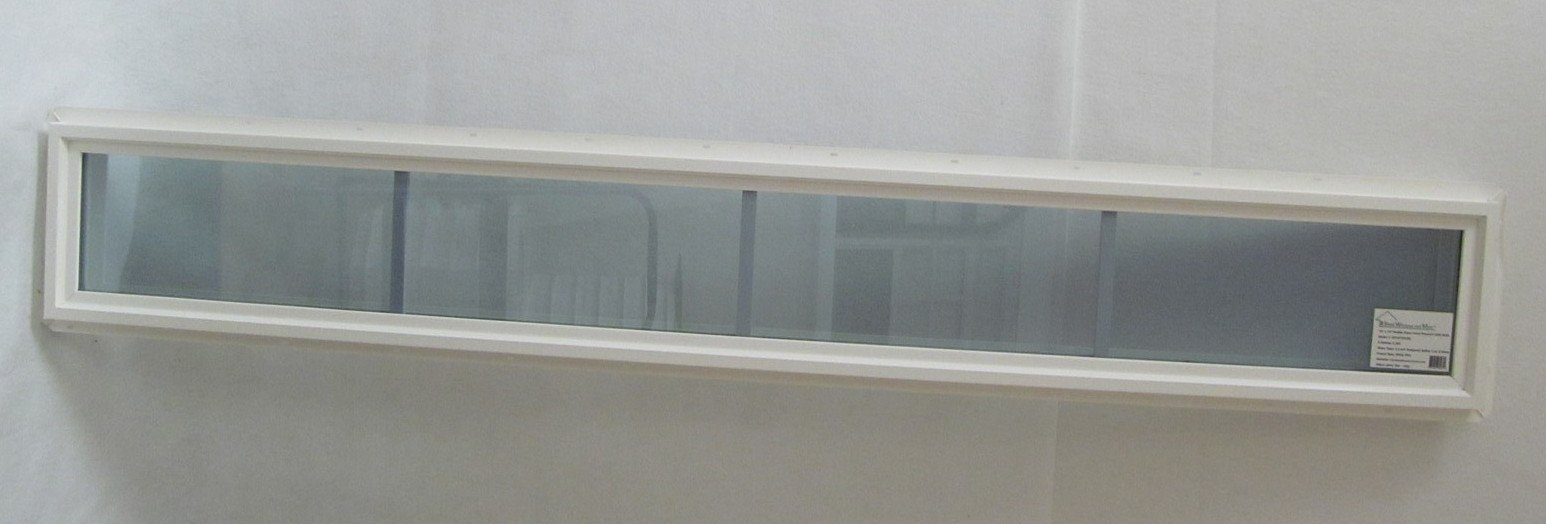 Transom Window 12'' x 60'' Double Pane Low E Tempered Glass with grids