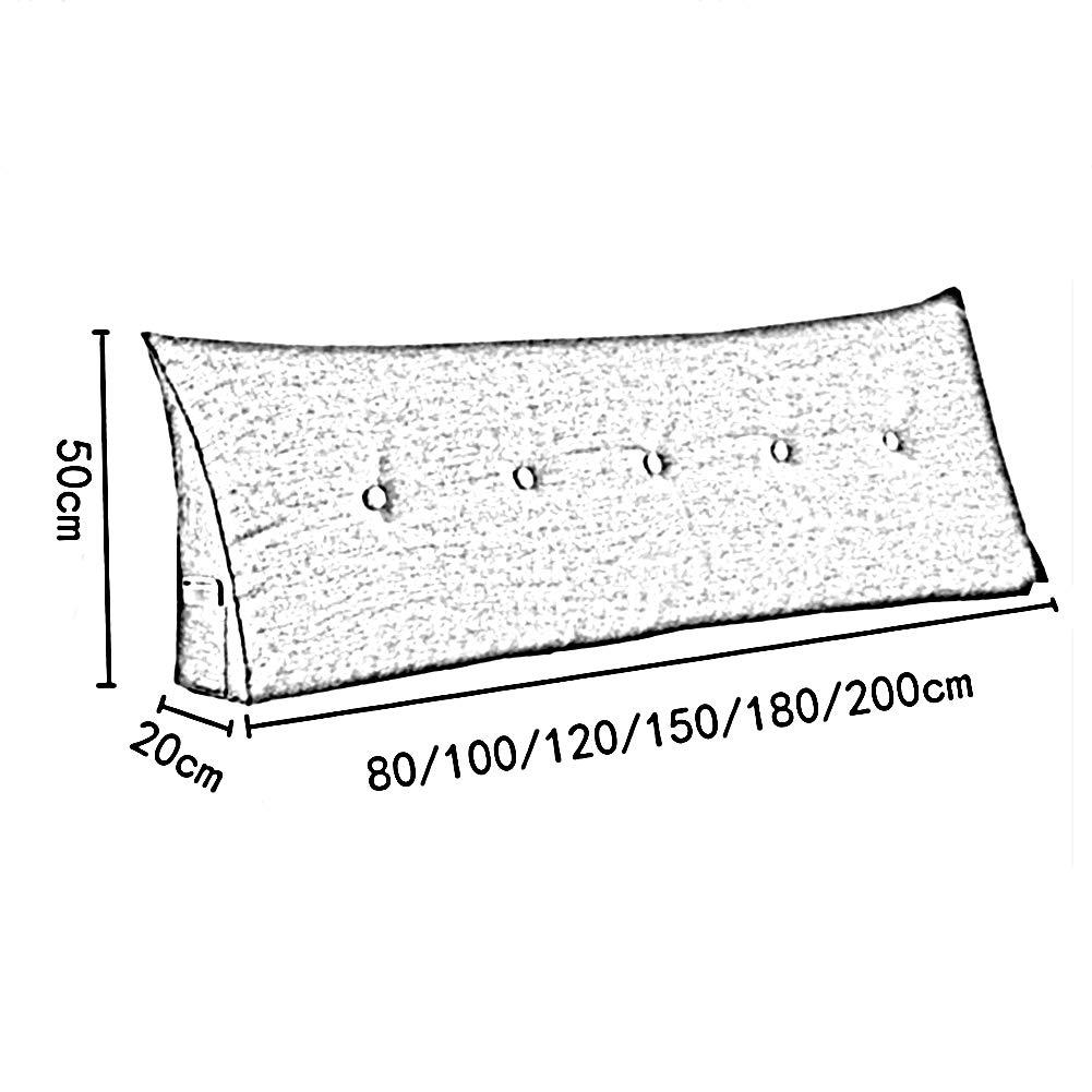 ZIERKISSENSCHUTZBEZUGE Dreieckiges Nachtkissen Rückenkissen Rückenkissen Rückenkissen Doppel Lendenkissen Gepolsterte Pads Sofa Waschbar 80x20x50cm (Farbe   A, größe   200x20x50cm) 3c7f35