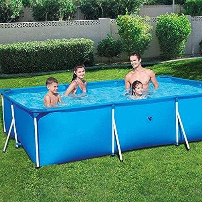 Zenghh Marco prisma piscina Set Family Pool, desmontable rectangular piscina con el desgaste de la bomba Filtro Pista Y piscina cubierta, la escuadra de soporte jardín al aire libre de gran tamaño