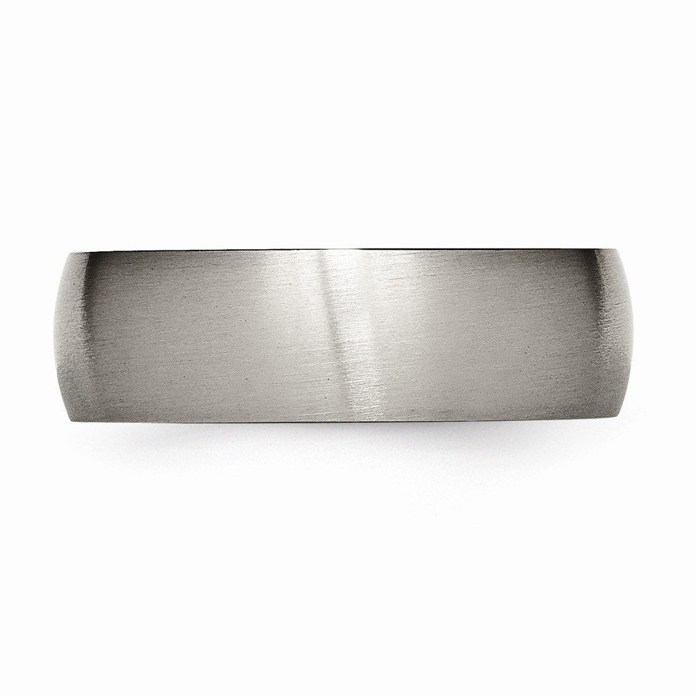 Wedding Bands Classic Bands Domed Bands Titanium 7mm Brushed Band Size 7