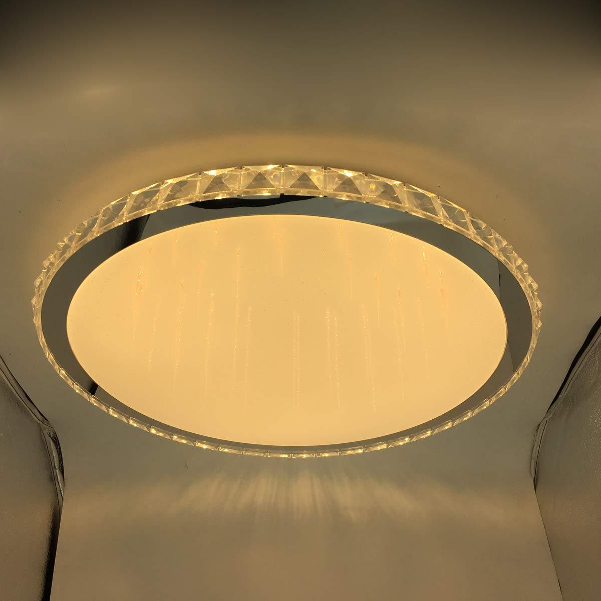 Addison Addison Addison Runde Wohnzimmer LED Kristall Deckenleuchte, moderne, minimalistische Atmosphäre europäische Lobby Restaurant Kristall Lampe, 15W, Durchmesser 43cm Hoch 17cm 8694c3