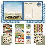 Scrapbook Customs Themed Paper and Stickers Scrapbook Kit, North Dakota Vintage