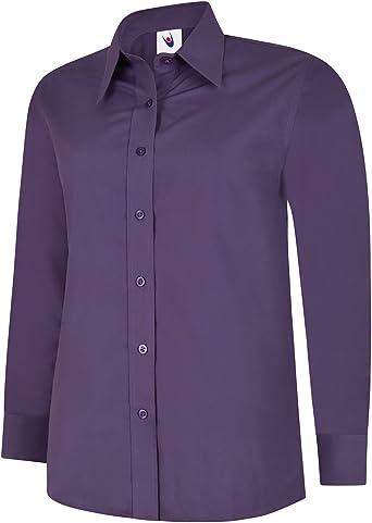 Uneek Clothing - Camisas - para Mujer Violet - Violeta Medium: Amazon.es: Ropa y accesorios