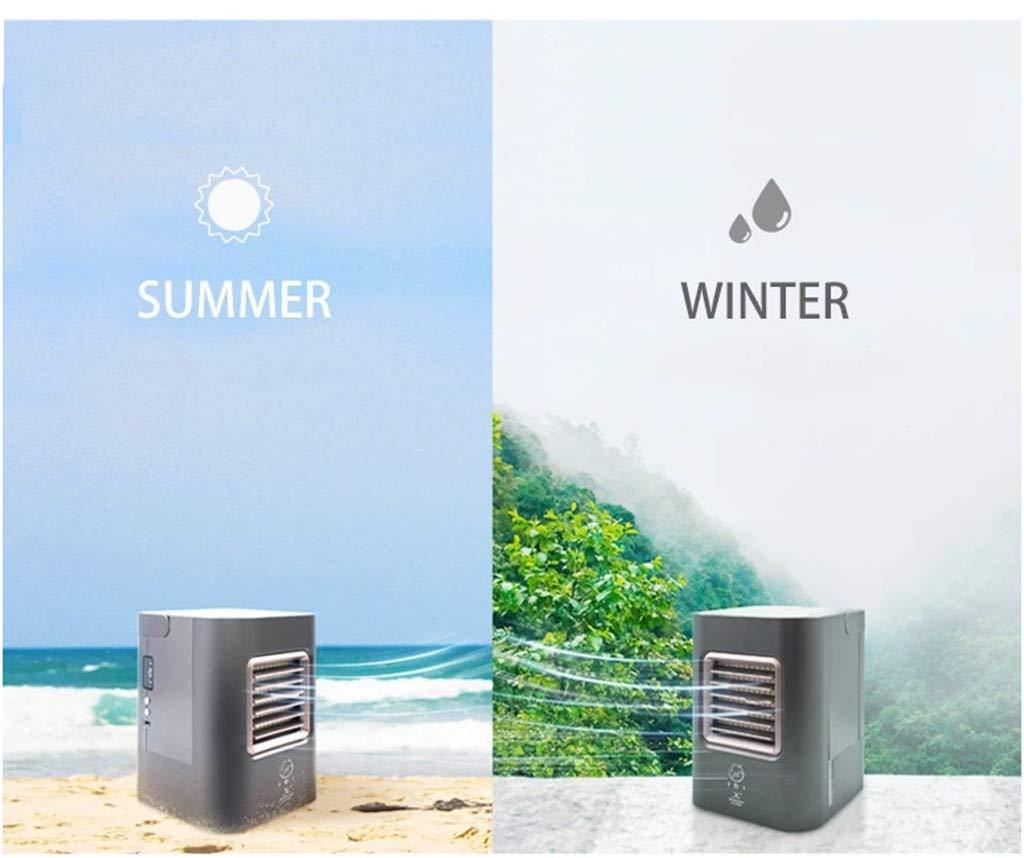 Climatiseur Mobile Refroidisseur dair Radiateur et Ventilateur Soufflant Climatisation/De Voyage Climatisation/Usb USB Mini Portable 16.8 x 16.4 x 14.7cm, Noir