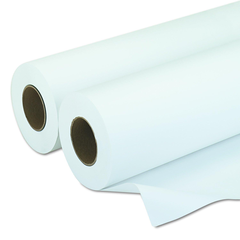 PM Company 09130 Amerigo Wide-Format Paper, 20 lbs., 3'' Core, 30''x500 ft, White (Case of 2)