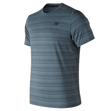bb2567d2a6830 New Balance Men's Anticipate Tee Petrol Small at Amazon Men's Clothing  store: