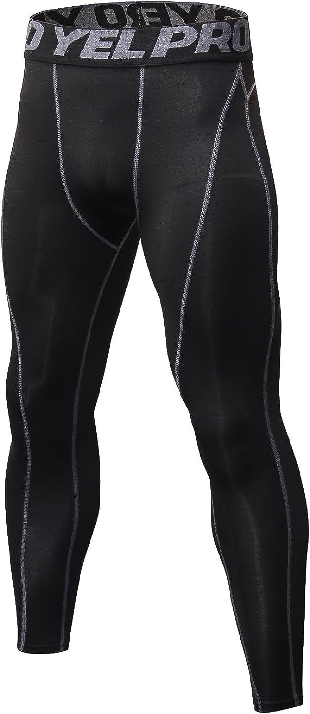 Witkey Men's Capri Shorts Baselayer Compression Pants Sports Leggings Tights