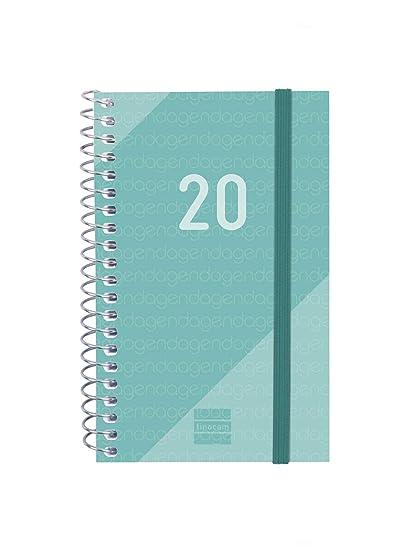 Finocam - Agenda 2020 semana vista apaisada Espiral Year Turquesa ...